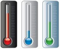 Conjunto de termómetros Fotografía de archivo libre de regalías