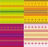 Conjunto de textura étnica del modelo Fotos de archivo libres de regalías