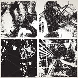Conjunto de texturas del vector del grunge Foto de archivo libre de regalías