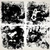 Conjunto de texturas del vector del grunge Imagen de archivo libre de regalías
