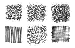 Conjunto de texturas frotadas ligeramente Fotografía de archivo libre de regalías