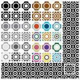 Conjunto de texturas inconsútiles Imagen de archivo libre de regalías