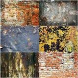 Conjunto de texturas oxidadas del granero Fotografía de archivo libre de regalías