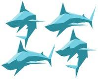 Conjunto de tiburones Fotos de archivo