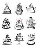 Conjunto de tortas Imagenes de archivo
