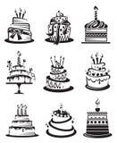 Conjunto de tortas Imágenes de archivo libres de regalías