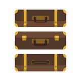Conjunto de tres maletas Visión desde arriba stock de ilustración