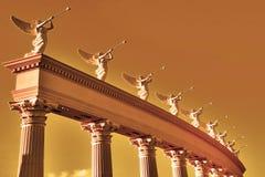 Conjunto de trompetistas voadas Fotografia de Stock