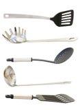 Conjunto de utensilios de la cocina Fotos de archivo