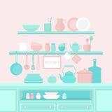 Conjunto de utensilios de la cocina Imagenes de archivo