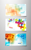 Conjunto de variaciones cruzadas coloridas abstractas. Foto de archivo libre de regalías
