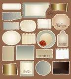 Conjunto de varios papeles de la vendimia Imagen de archivo libre de regalías