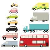 Conjunto de vehículos Fotografía de archivo libre de regalías