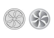Conjunto de ventiladores stock de ilustración