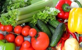 Conjunto de verduras frescas Fotos de archivo libres de regalías