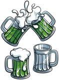 Conjunto de vidrios de cerveza Fotografía de archivo