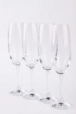 Conjunto de vidrios del champán Fotografía de archivo libre de regalías