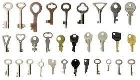 Conjunto de viejos claves Fotografía de archivo libre de regalías