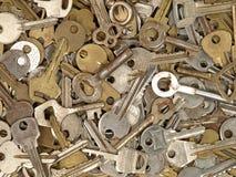 Conjunto de viejos claves del metal. Fotografía de archivo libre de regalías