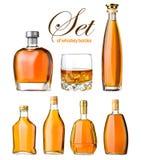 Conjunto de whisky Foto de archivo