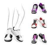 Conjunto de zapatillas de deporte Fotografía de archivo