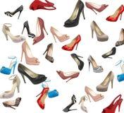 Conjunto de zapatos modernos de la mujer Foto de archivo libre de regalías