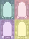 Conjunto decorativo del marco Imagenes de archivo