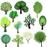Conjunto del árbol stock de ilustración