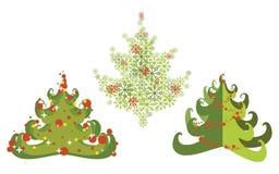 Conjunto del árbol de navidad Imágenes de archivo libres de regalías