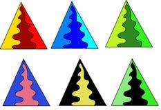 Conjunto del árbol de navidad Foto de archivo libre de regalías