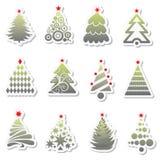 Conjunto del árbol del Año Nuevo Imagen de archivo libre de regalías