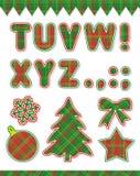 Conjunto del ABC de la Navidad, parte 2 Imagenes de archivo