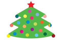 Conjunto del abeto de la Navidad Imagen de archivo