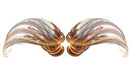 Conjunto del ala del fractal Fotografía de archivo libre de regalías