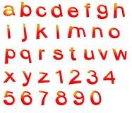 Conjunto del alfabeto Imágenes de archivo libres de regalías