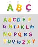 Conjunto del alfabeto Imagenes de archivo