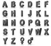 Conjunto del alfabeto Fotografía de archivo libre de regalías
