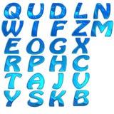 Conjunto del alfabeto brillante 3d libre illustration