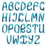 Conjunto del alfabeto de la cinta del color Fotos de archivo