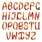 Conjunto del alfabeto de la cinta del color Foto de archivo
