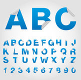 Conjunto del alfabeto del símbolo ilustración del vector