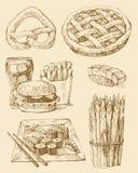 Conjunto del alimento Imágenes de archivo libres de regalías