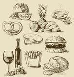 Conjunto del alimento Imagen de archivo