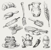 Conjunto del alimento Imagen de archivo libre de regalías