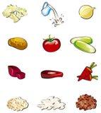 Conjunto del alimento Imagenes de archivo
