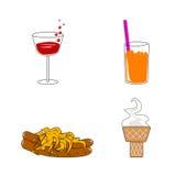 Conjunto del alimento Fotografía de archivo libre de regalías