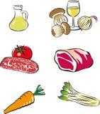 Conjunto del alimento del vector Fotos de archivo libres de regalías