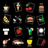 Conjunto del alimento y de la bebida Foto de archivo libre de regalías