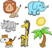 Conjunto del animal del safari Imagenes de archivo