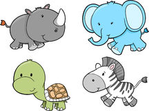 Conjunto del animal del safari Imágenes de archivo libres de regalías